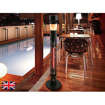 Schuller Estufa Outdoor Electric Heater with RGB LED Light, Speaker, Bluetooth Connection, Remote Control, IP55