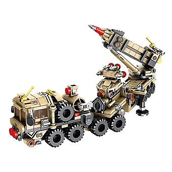 549 Sztuk Samolot czołgowy 12 IN 1 Model pojazdu opancerzonego Edukacyjne klocki Zabawki