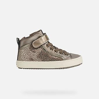 Geox Girls Kalispera Leather Lined Trainers