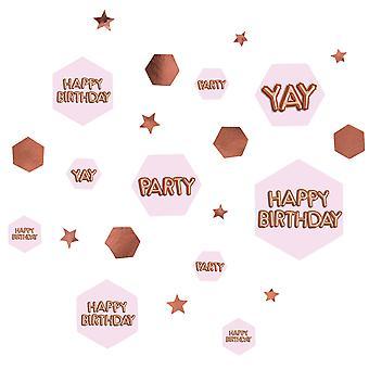 פיזור קונפטי ורוד וזוהר - ורוד ורוד - יום הולדת שמח