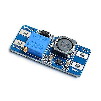 Motherboards 100pcs mt3608 dc-dc adjustable boost module 2a boost plate 2a step up module with micro usb 2v - 24v