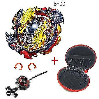 Spinning tops 5 beyblade burst sparking turbo b48 launcher  metal top gyro blade blade spinning fight toys b00