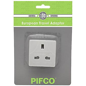 Europese Travel Adapter Plug 3pin aan 2pin (UK naar EU) - Pack van 10 (PIF2067)