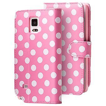 Galaxy Note 4 Leatherbook rosa dálmata