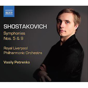 D. Shostakovich - Shostakovich: Symphonies Nos. 5 and 9 [CD] USA import