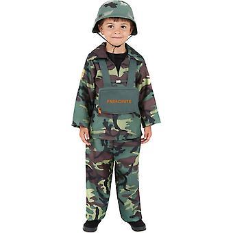 Traje de niño de soldado traje soldado militar del ejército