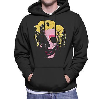 Marilyn Monroe Pop Art Skull Men's Hooded Sweatshirt