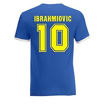 Zlatan Ibrahimovic Sweden Ringer Tee (blue)