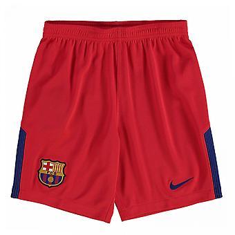 2017-2018 Barcelona Away Nike målmand Shorts (rød) - børn