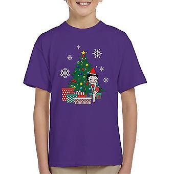 Betty Boop Around The Christmas Tree Kid's T-Shirt