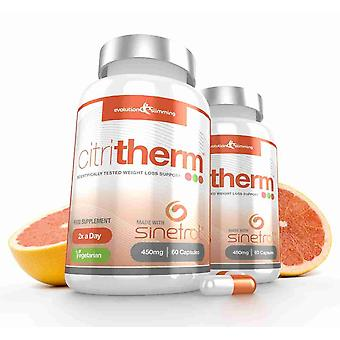 CitriTherm Natural Fat Burner with Sinetrol Citrus Extracts - 120 Capsules - Fat Burner - Evolution Slimming