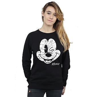 Disney vrouwen Mickey Mouse verdrietig gezicht Sweatshirt