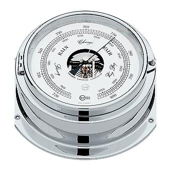 Barigo marine ship porthole barometer, double box 1613CR