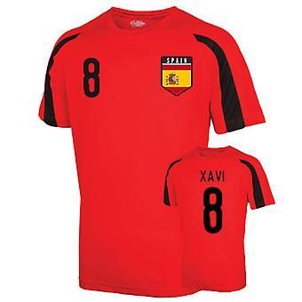 Espagne Entraînement sportif Jersey (xavi 8)