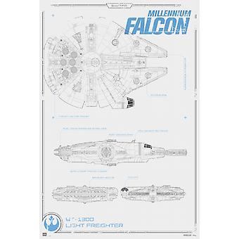 Star Wars Millennium Falcon Poster Poster Print