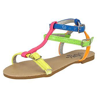 Dziewczyny do nakrapiania fluorescencyjne sandały H0042
