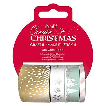 DoCrafts pastel Christmas Craft tape set * ^^