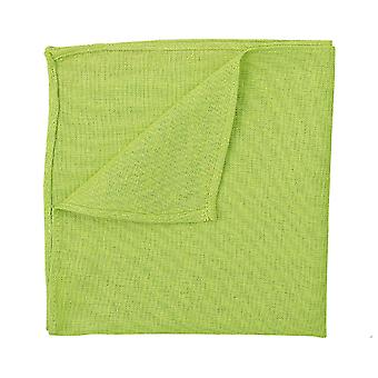 Lime Green Hopsack Linen Pocket Square