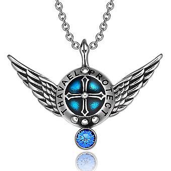 Erzengel Engelsflügel Thavael Schutzschild magische Kraft Amulett Anhänger Halskette