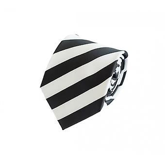 Schlips Krawatte Krawatten Binder 8cm schwarz weiß gestreift Fabio Farini