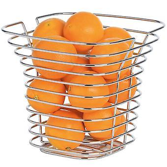 Fruit and vegetable basket steel wire chromed