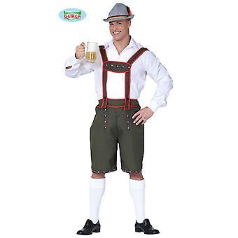 Tyrolienne, pantalon en cuir - costume pour hommes Carnaval Carnaval Oktoberfest Bavière