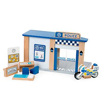 Tidlo Wooden Police Station with Accessories Emergency Services Kids