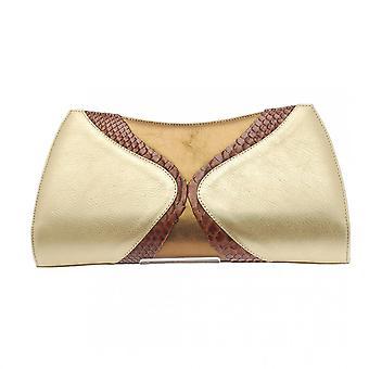 Magrit Bronze Brown Skin Clutch