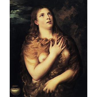 Mary Magdalen, Titian, 50x40cm