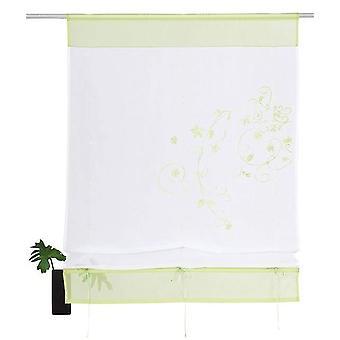Mia casa verde ombra nastro ricamato passaggio tunnel + accessori H/W 140 x 100 cm