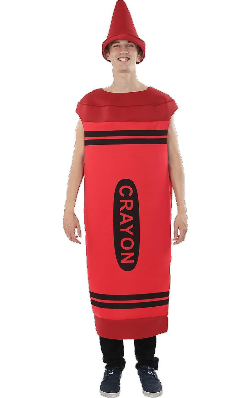 Orion Costumes Mens Red Crayon Novelty Stag Night Group Fancy Dress Costume