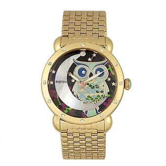 Bertha Ashley MOP Ladies Bracelet Watch - Gold