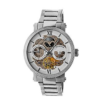 Heritor Automatic Aries Skeleton Dial Bracelet Watch - Silver/White