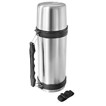 Eisvogel große Sainless Stahl Metall Vakuum Jumbo Flasche Taster offen enge Stopper anschrauben Cup Deckel Fassungsvermögen 1,5 Liter (1500ml)