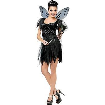 Mørk Fairy voksen drakt