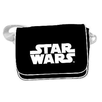 Star Wars Messenger tas logo (Messenger bag) zwart, afgedrukt, gemaakt van PVC, met verstelbare schouderband.