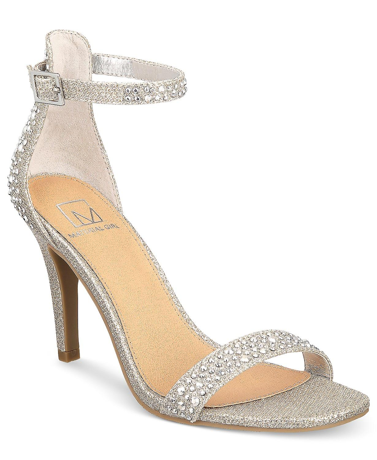 Material Girl Womens Blaire1 Open Toe Special Occasion Slingback Sandals