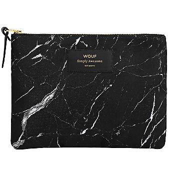 Wouf Black Marble Large Pouch