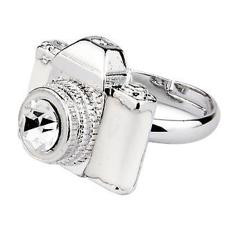 Vintage diseño de la cámara de moda ajustable anillo