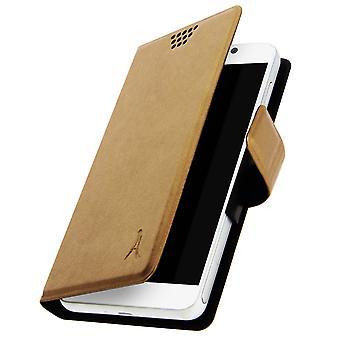 Akashi Folio acoperi portofel caz smartphone dimensiune aurie XXL-