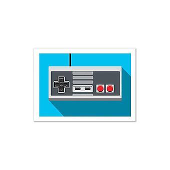 Art-Poster-Retro controller: NES controller-Olivier, muur edities 50 x 70 cm