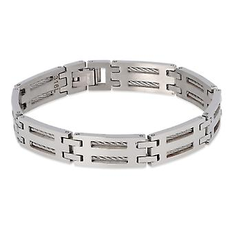 Cable And Stainless Steel Bracelet 316l 21cm