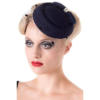 Bandlyst Navy Judy fascinator hat