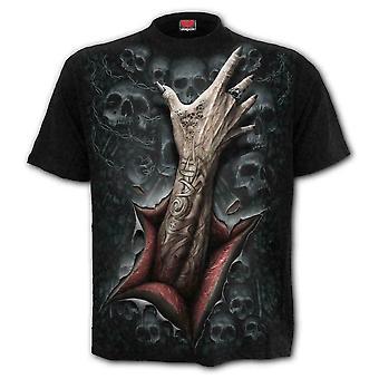 スパイラル - 絞殺 - メン&アポス;s黒半袖Tシャツ