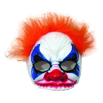 Bristol Novelty Unisex adultos malvado payaso máscara y el pelo