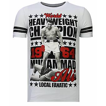 Greatest Of All Time-Rhinestone T-shirt-White