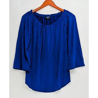 Kelly by Clinton Kelly Women's Top XXS 3/4 Flutter Sleeve Knit Blue A304700
