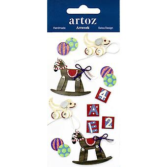 Traditional Rocking Horse Wooden Toys Craft Embellishment By Artoz