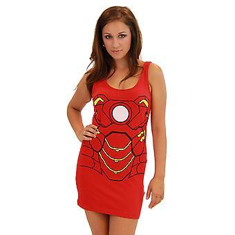 Iron Man Baumwolle/Spandex Tank Kleid für Damen