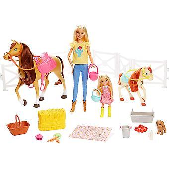 Barbie Hugs 'N' Horses Doll Playset